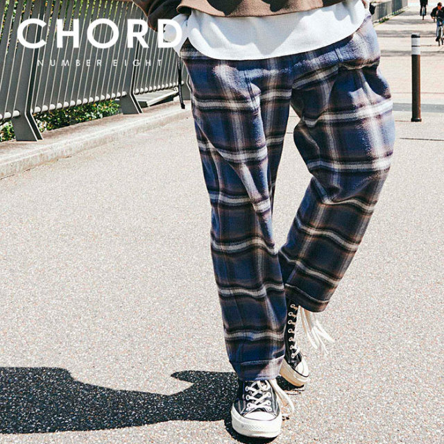 CHORD NUMBER EIGHT(コードナンバーエイト) HERRINGBONE OMBRE CHECK PANTS 【2019AUTUMN&WINTER先行予約】 【キャンセル不可】【