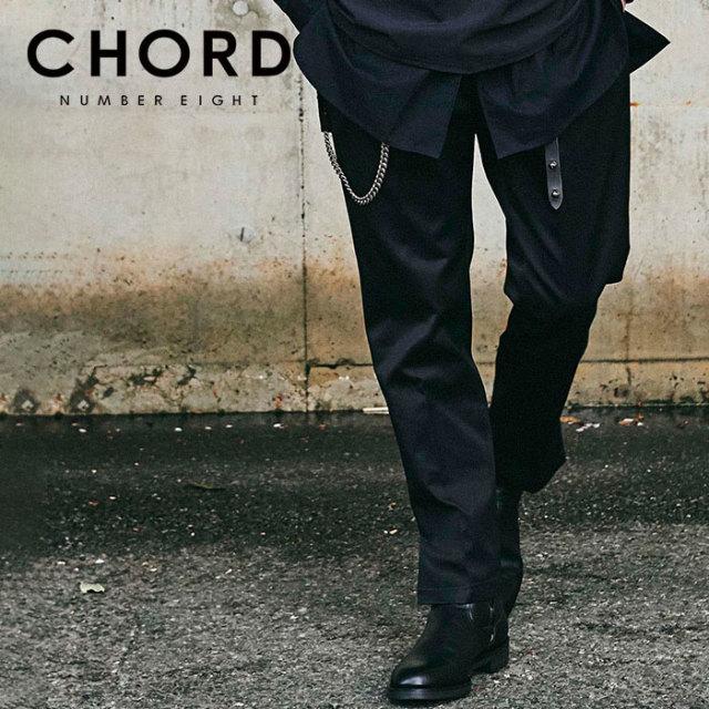 CHORD NUMBER EIGHT(コードナンバーエイト) T/C TWILL SLIT PANTS 【2019AUTUMN&WINTER先行予約】 【キャンセル不可】【CH01-01K5