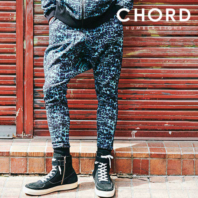CHORD NUMBER EIGHT(コードナンバーエイト) LEOPARD SARROUEL SWEAT PANTS 【2019AUTUMN&WINTER先行予約】 【キャンセル不可】【C