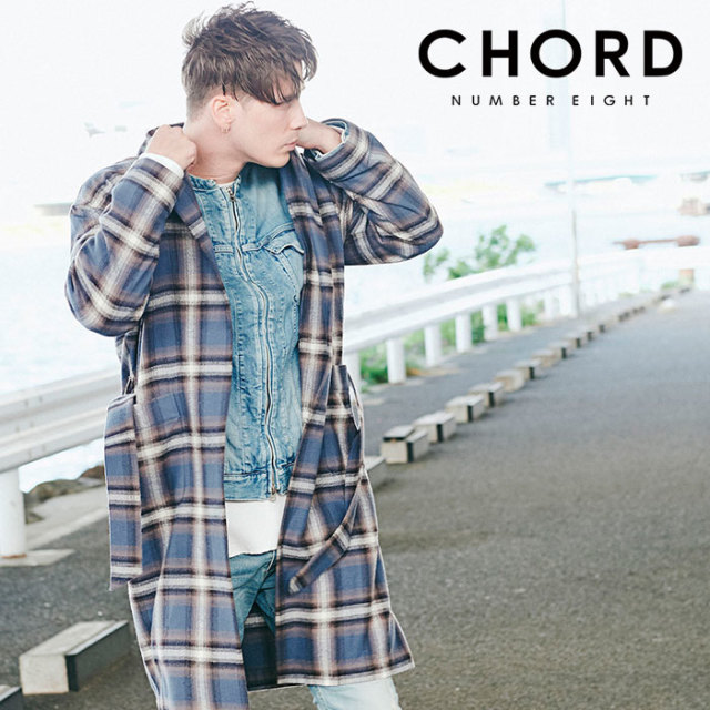 CHORD NUMBER EIGHT(コードナンバーエイト) HERRINGBONE OMBRE CHECK GOWN 【2019AUTUMN&WINTER先行予約】 【キャンセル不可】【C