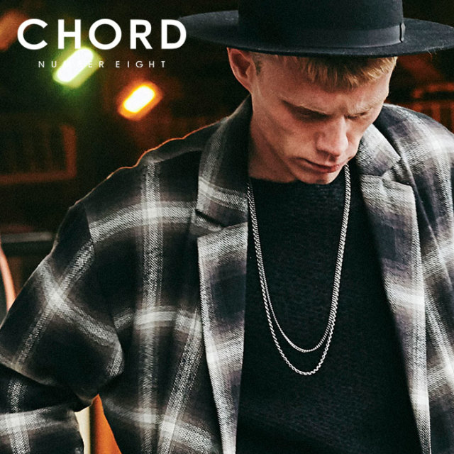 CHORD NUMBER EIGHT(コードナンバーエイト) DOUBLE STRAND LONG CHAIN (THICK TYPE) 【2019AUTUMN&WINTER先行予約】 【キャンセル