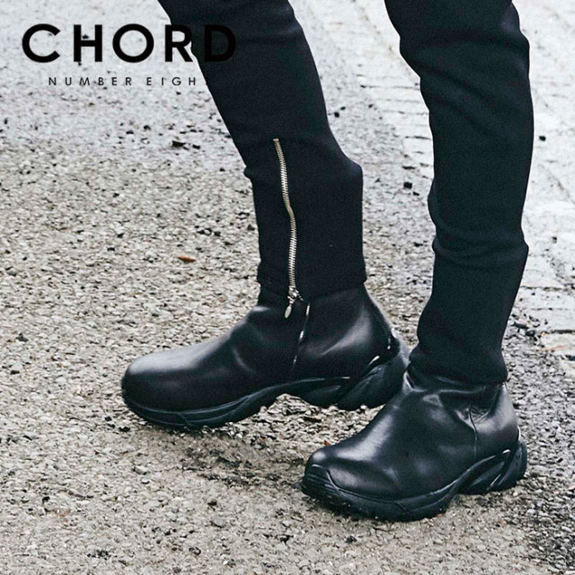 CHORD NUMBER EIGHT(コードナンバーエイト) LEATHER ZIP SNEAKER BOOTS 【2019AUTUMN&WINTER先行予約】 【キャンセル不可】【CHA1