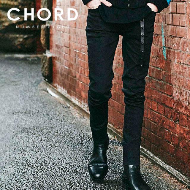 CHORD NUMBER EIGHT(コードナンバーエイト) BLACK SKINNY PANTS 【スキニーパンツ】【ブラック シンプル おしゃれ 人気】【CHA1-02