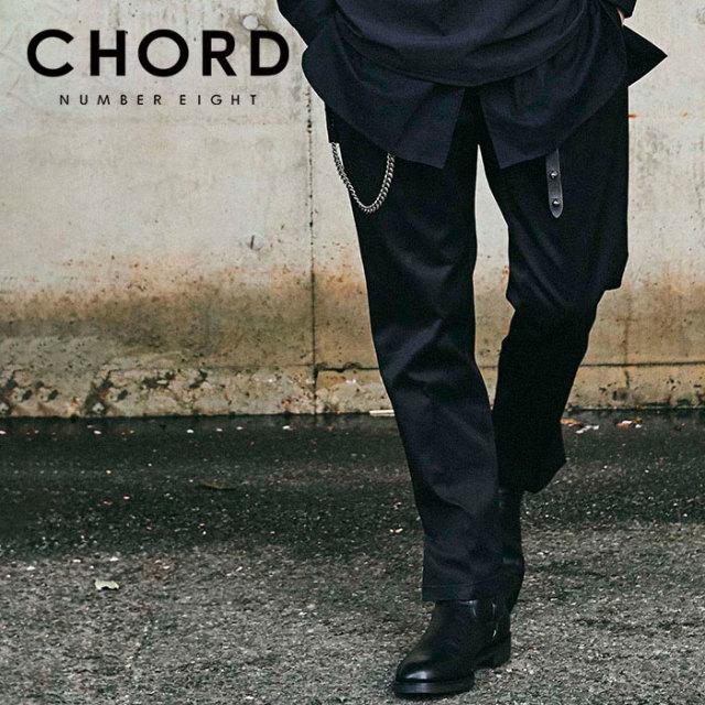 CHORD NUMBER EIGHT(コードナンバーエイト) T/C TWILL SLIT PANTS 【チノパンツ 裾スリット】【シンプル おしゃれ 人気】【CHA1-02