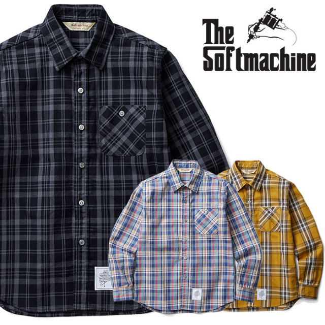 SOFTMACHINE(ソフトマシーン) DAILY FLANNEL(FLANNEL SHIRTS) 【2018AUTUMN/WINTER新作】【フランネルシャツ】