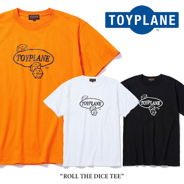 TOYPLANE(トイプレーン) ROLL THE DICE TEE 【2018SPRING/SUMMER新作】 【即発送可能】 【TOYPLANE Tシャツ】 【LTP18-HTE08】