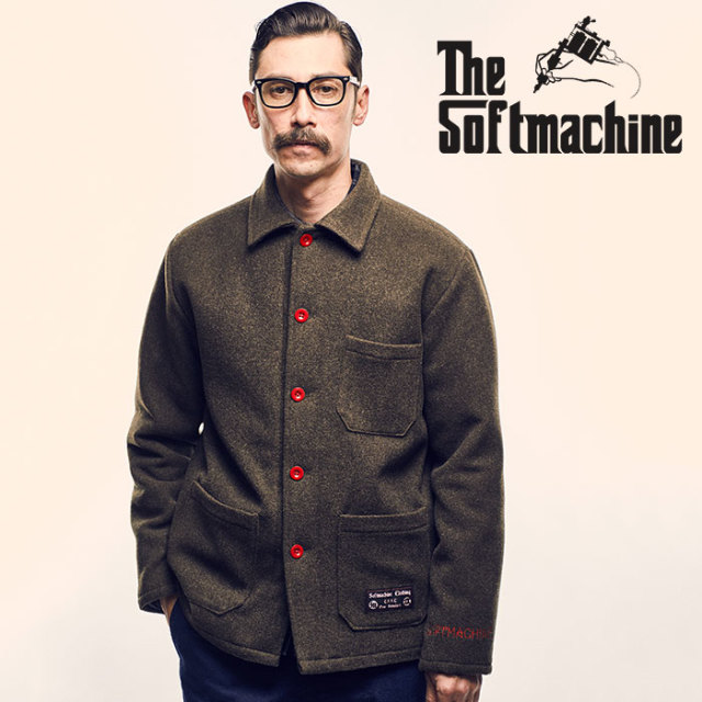 SOFTMACHINE(ソフトマシーン) RED EYE JK(WOOL COVERALL JACKET) 【2018AUTUMN/WINTER先行予約】【キャンセル不可】