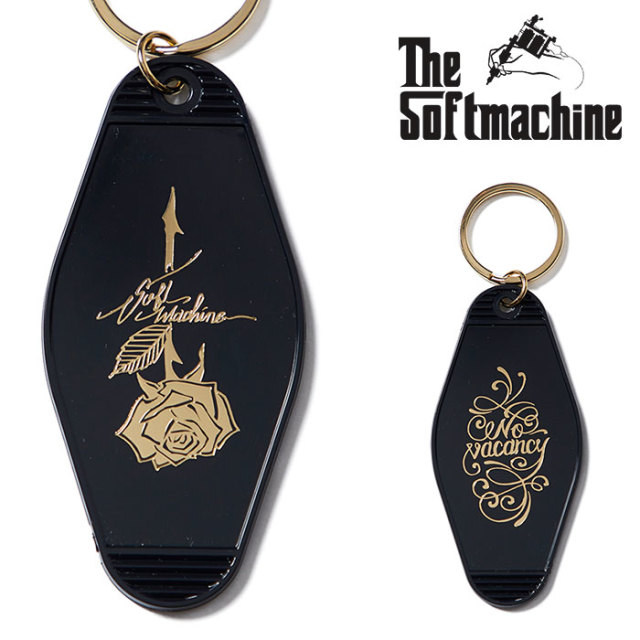 SOFTMACHINE(ソフトマシーン) ROSE KEY HOLDER(MOTEL KEY HOLDER) 【2018AUTUMN/WINTER新作】