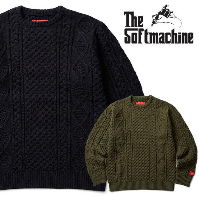 SOFTMACHINE(ソフトマシーン) TERENCE SWEATER(CREW NECK SWEATER) 【2018AUTUMN/WINTER先行予約】【キャンセル不可】