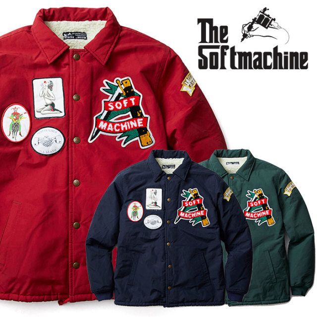 SOFTMACHINE(ソフトマシーン) TRAILER JK(BOA COACH JACKET) 【2018AUTUMN/WINTER新作】【ボアジャケット】