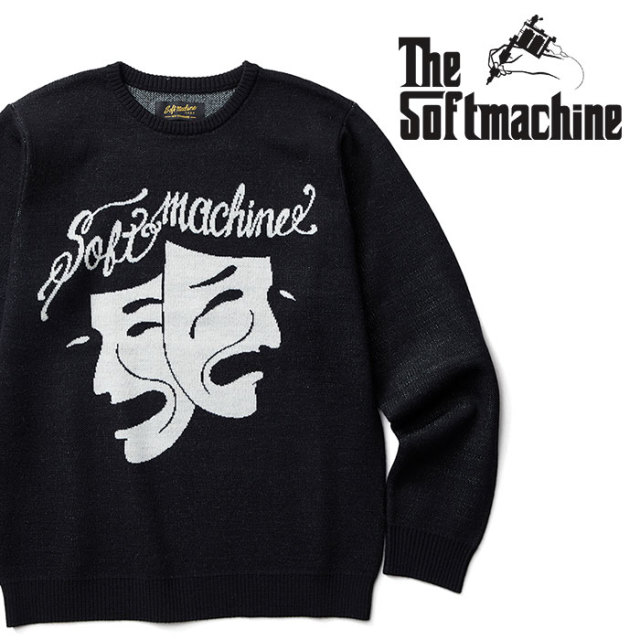 SOFTMACHINE(ソフトマシーン) TWO FACE SWEATER(CREW NECK SWEATER) 【2018AUTUMN/WINTER先行予約】【キャンセル不可】