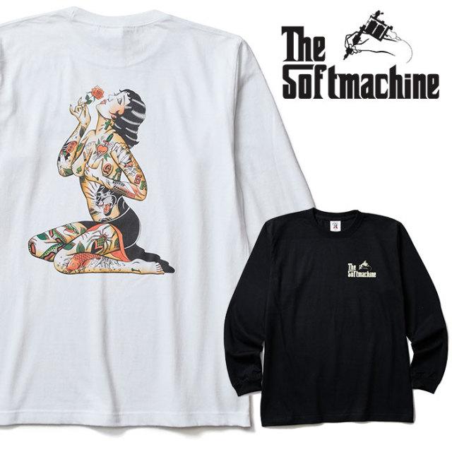 【SALE20%OFF】 SOFTMACHINE(ソフトマシーン) VARGAS L/S(L/S T-SHIRTS) 【2018AUTUMN/WINTER新作】【ロンT 白 黒】【タトゥー TA