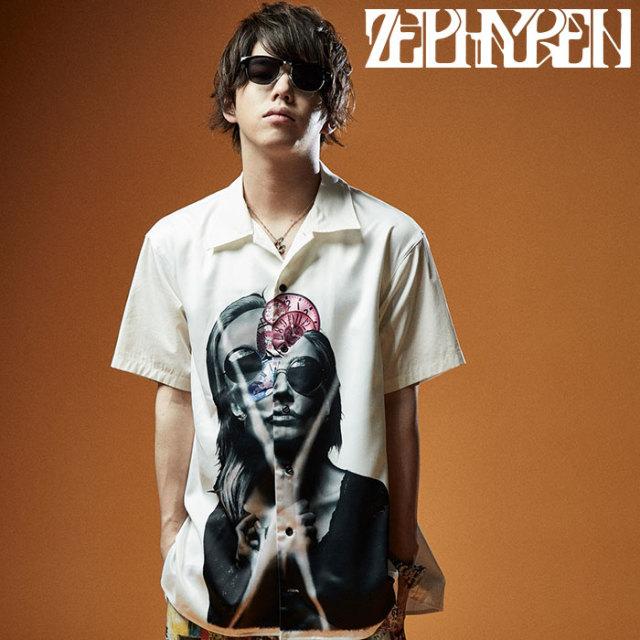 ZEPHYREN(ゼファレン) PHOTO PRINT SHIRT S/S 【シャツ 半袖】【Z20UD03】【2020SUMMER先行予約】【キャンセル不可】