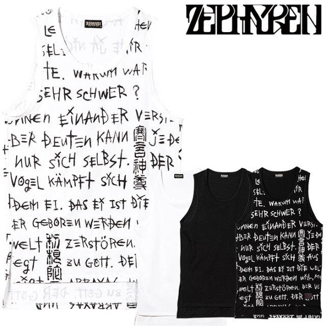 ZEPHYREN(ゼファレン) BIG TANKTOP 【ビッグタンクトップ】【Z20UG09】【2020SUMMER先行予約】【キャンセル不可】