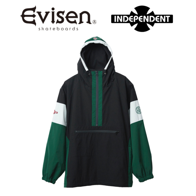 Evisen Skateboards (エヴィセン スケートボード) INDEPENDENT x EVISEN ANORAK PARKA 【アノラックパーカー】【コラボレーション