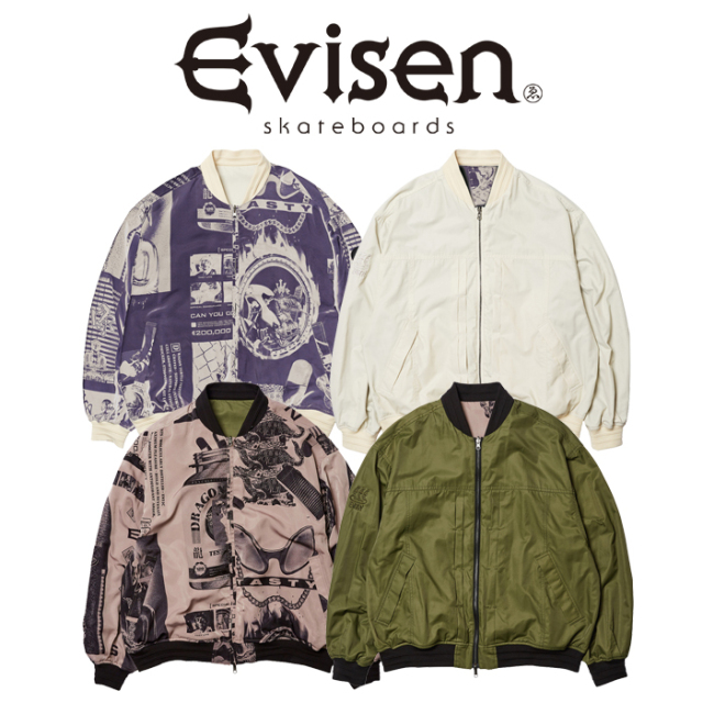 Evisen Skateboards (エヴィセン スケートボード) REVERSIBLE MA-1ST 【MA-1 ジャケット】【2021 SPRING&SUMMER COLLECTION】【000