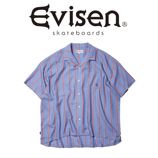 Evisen Skateboards (エヴィセン スケートボード) TENC STRIPE SHIRT 【オープンカラーシャツ】【2021SPRING&SUMMER COLLECTION】