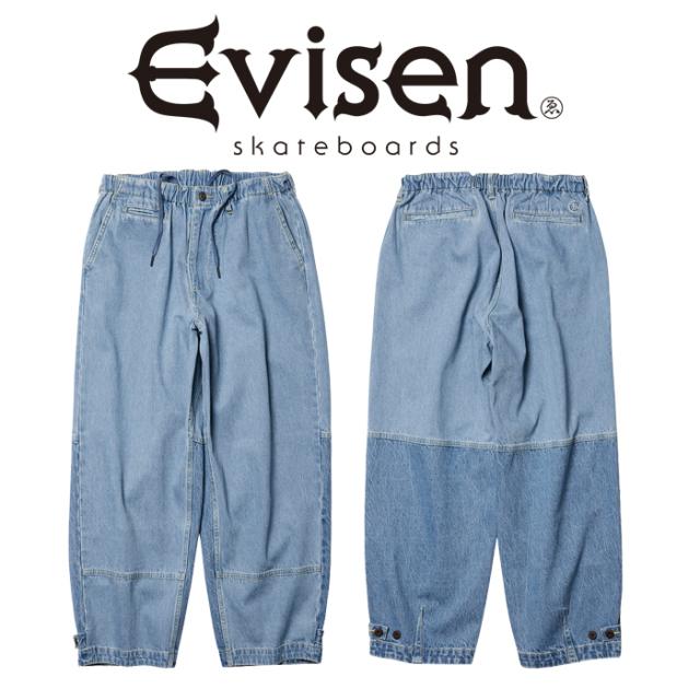 【EVISEN】 Evisen Skateboards (エヴィセン スケートボード)  STITCH DENIM PANTS  【デニム イージー パンツ】【2021 SPRING&SUM