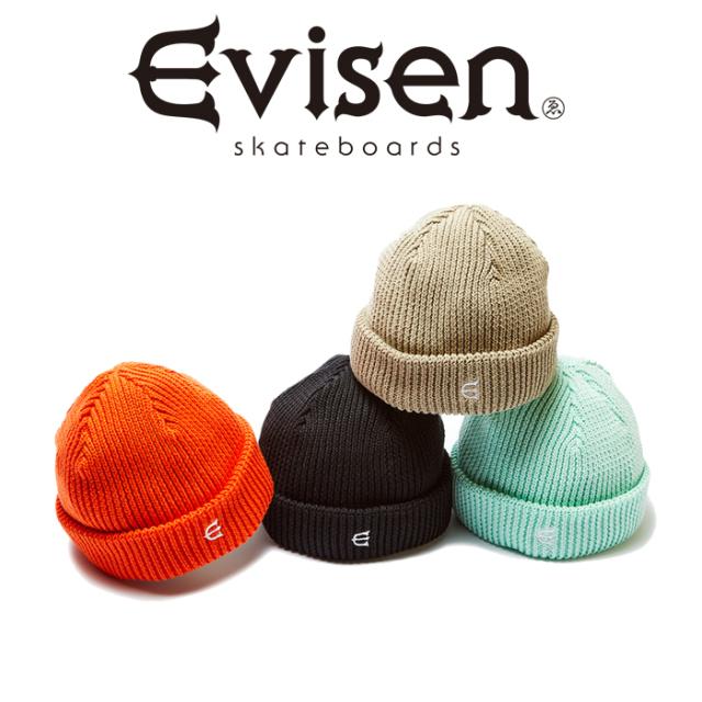 Evisen Skateboards (エヴィセン スケートボード) E LOGO BEANIE 【ビーニー ニットキャップ 帽子】【2021 SPRING&SUMMER COLLECTI