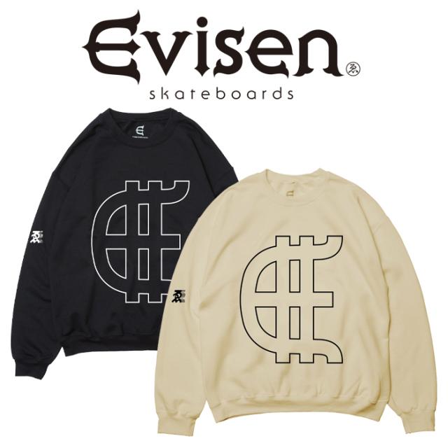 【SALE30%OFF】  【EVISEN】 Evisen Skateboards (エヴィセン スケートボード)  EVY CREW NECK  【クルーネックスウェット】【202