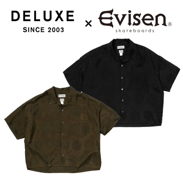 Evisen Skateboards (エヴィセン スケートボード) DELUXE × EVISEN GARCONS SHIRT 【オープンカラーシャツ】【デラックス コラボレ