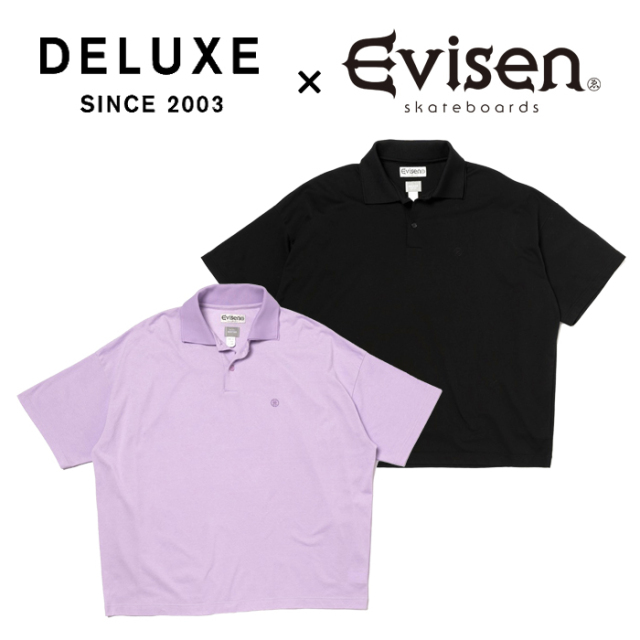 Evisen Skateboards (エヴィセン スケートボード) DELUXE × EVISEN Polo AIRPORT 【ポロシャツ】【デラックス コラボレーション】
