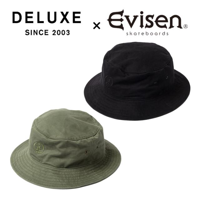 Evisen Skateboards (エヴィセン スケートボード) DELUXE × EVISEN SWITCH 【バケットハット 帽子】【デラックス コラボレーション