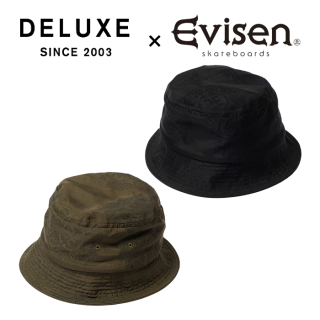 Evisen Skateboards (エヴィセン スケートボード) DELUXE × EVISEN HAT 【バケットハット 帽子】【デラックス コラボレーション】