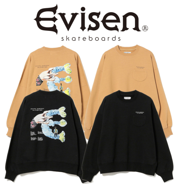 Evisen Skateboards (エヴィセン スケートボード)× HOLE AND HOLLAND FISH SIGN CREW SWEAT 【スウェット】【2020FALL&WINTER COLL