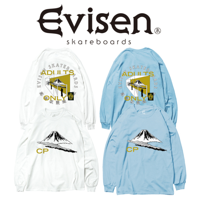 【EVISEN】 Evisen Skateboards (エヴィセン スケートボード)  FUJI CP LS  【ロングスリーブTシャツ】【エビセン スケートボード
