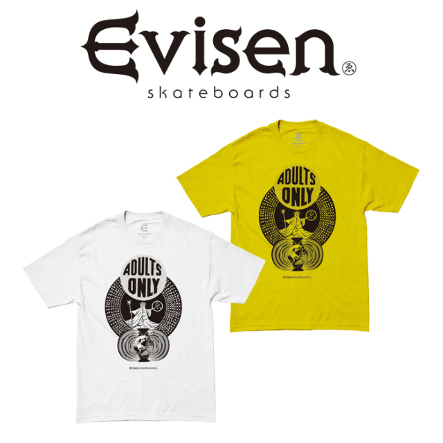 Evisen Skateboards (エヴィセン スケートボード) ADULTS ONLY 【Tシャツ 半袖 プリントT】【エビセン スケートボード Evisen Skat