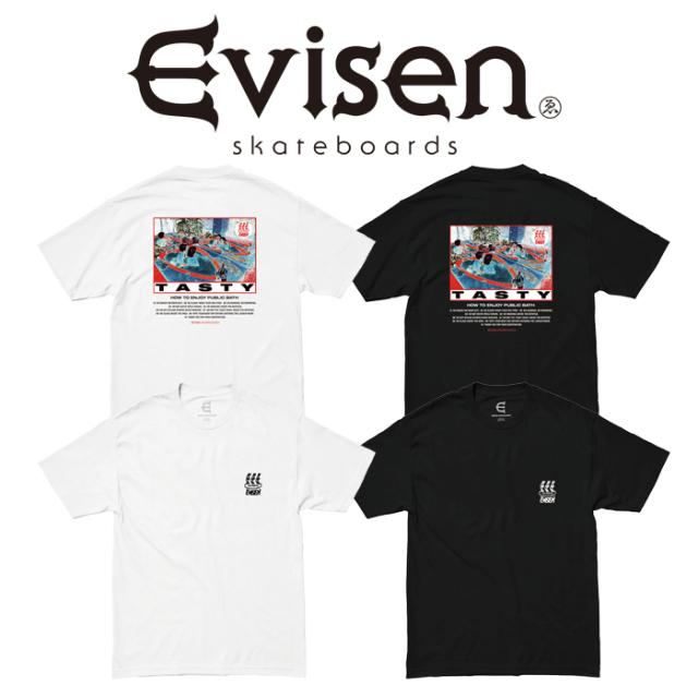【EVISEN】 Evisen Skateboards (エヴィセン スケートボード)  HOW TO TASTY  【Tシャツ 半袖 プリントT】【エビセン スケートボー