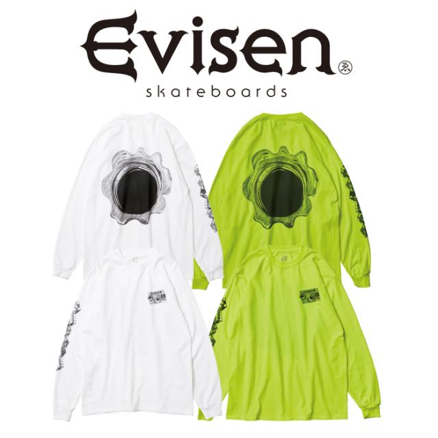 Evisen Skateboards (エヴィセン スケートボード) SHOT CARD LS 【ロングスリーブTシャツ】【エビセン スケートボード Evisen Skat