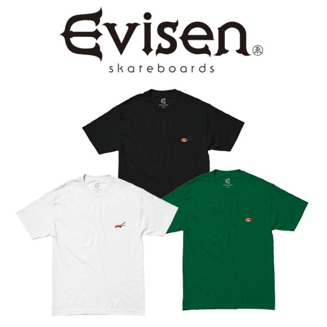 【EVISEN】 Evisen Skateboards (エヴィセン スケートボード)  SUSHI STITCH  【Tシャツ 半袖 プリントT】【エビセン スケートボー