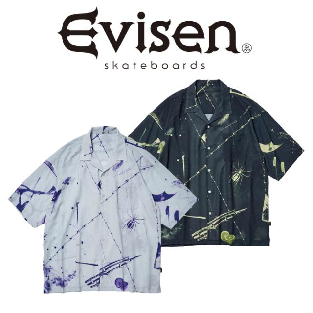 【SALE30%OFF】 【EVISEN】 Evisen Skateboards (エヴィセン スケートボード)  TOKONOMA SHIRT  【オープンカラーシャツ】【エビ
