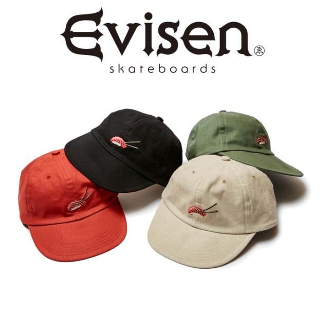 Evisen Skateboards (エヴィセン スケートボード) SUSHI LINEN CAP 【6パネルキャップ 帽子】【エビセン スケートボード Evisen Sk