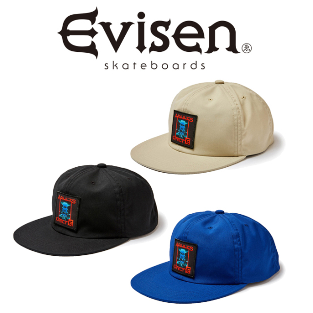 Evisen Skateboards (エヴィセン スケートボード) PC BOY 6 PANEL 【6パネルキャップ 帽子】【エビセン スケートボード Evisen Ska