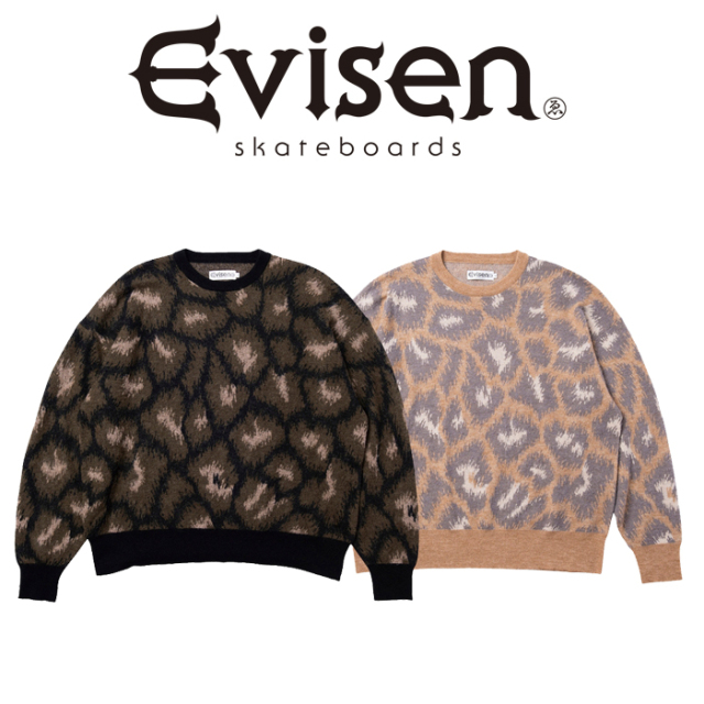 【EVISEN】 Evisen Skateboards (エヴィセン スケートボード)  FIRE MOHAIR SWEATER   モヘア セーター エビセン スケートボード E