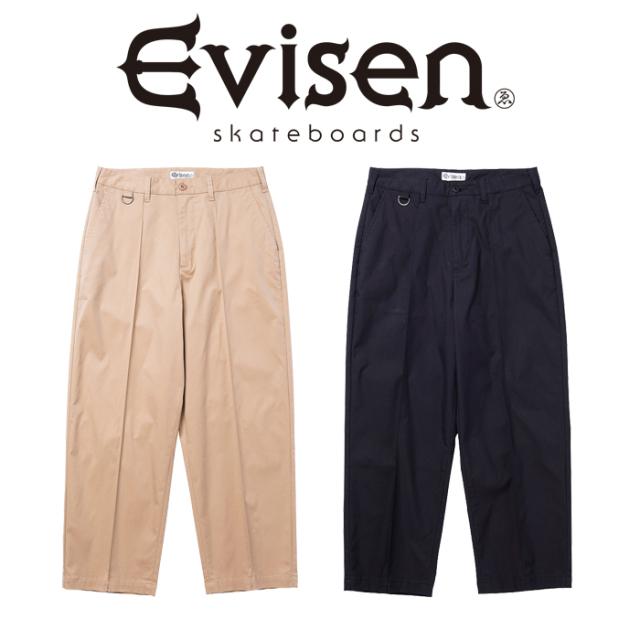 【EVISEN】 Evisen Skateboards (エヴィセン スケートボード)  TAMAMUSHI PIN TUCK CHINOS  【ピンタックチノ パンツ】【エビセン