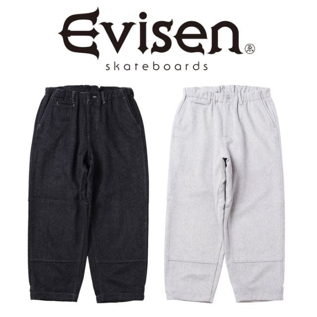【EVISEN】 Evisen Skateboards (エヴィセン スケートボード)  STITCH WOOL PANTS   【ウール パンツ】【エビセン スケートボード