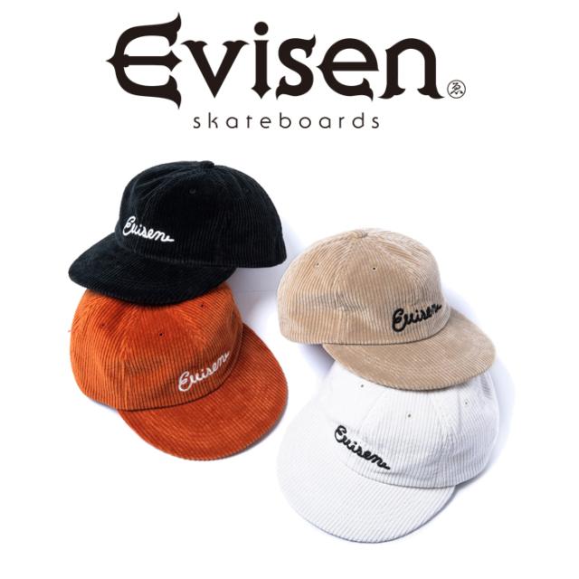 【EVISEN】 Evisen Skateboards (エヴィセン スケートボード)  GLC CORD 6 PANEL   【キャップ 帽子】【コーデュロイ】【エビセン
