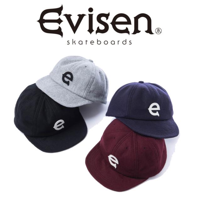 【EVISEN】 Evisen Skateboards (エヴィセン スケートボード)  E LOGO ONE CAP   【キャップ 帽子】【ウール】【エビセン スケート