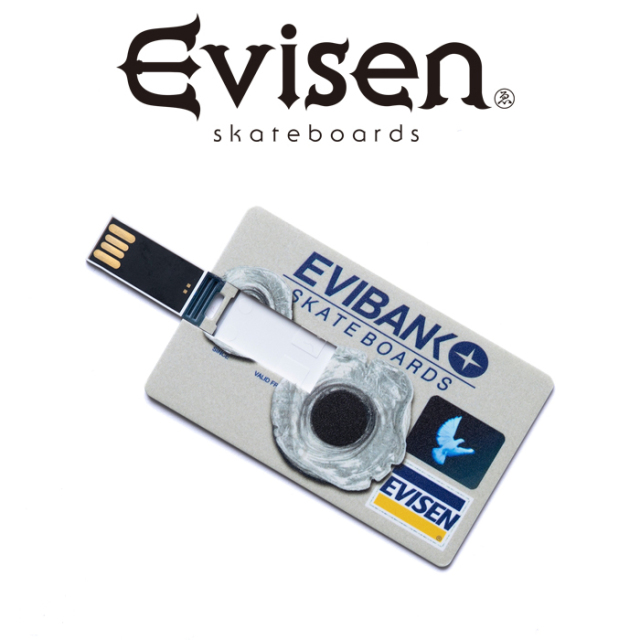 【EVISEN】 Evisen Skateboards (エヴィセン スケートボード)  EVIBANK USB  【USBメモリ ユーエスビー】【エビセン スケートボー
