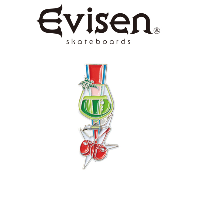 Evisen Skateboards (エヴィセン スケートボード) CHERRY POP PINS 【ピンズ】【2020FALL&WINTER COLLECTION】【00004824】