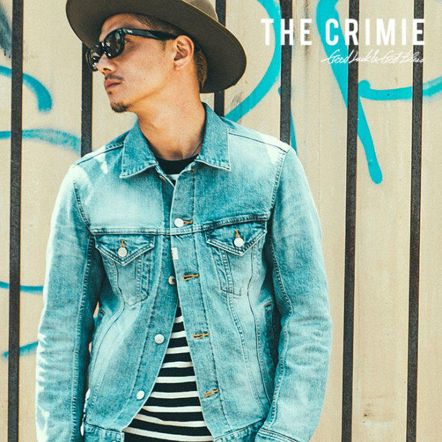 CRIMIE(クライミー) BORN FREE STRETCH SELVEDGE DENIM CALIFORNIA USED JACKET 【2018AUTUMN/WINTER先行予約】 【キャンセル不可
