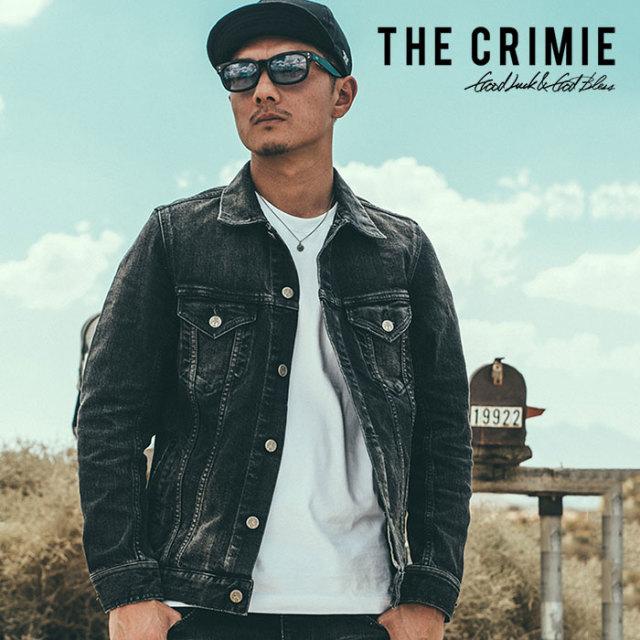 CRIMIE(クライミー) BORN FREE BLACK STRETCH DENIM GARAGE USED JACKET 【2018AUTUMN/WINTER先行予約】 【キャンセル不可】【C1H