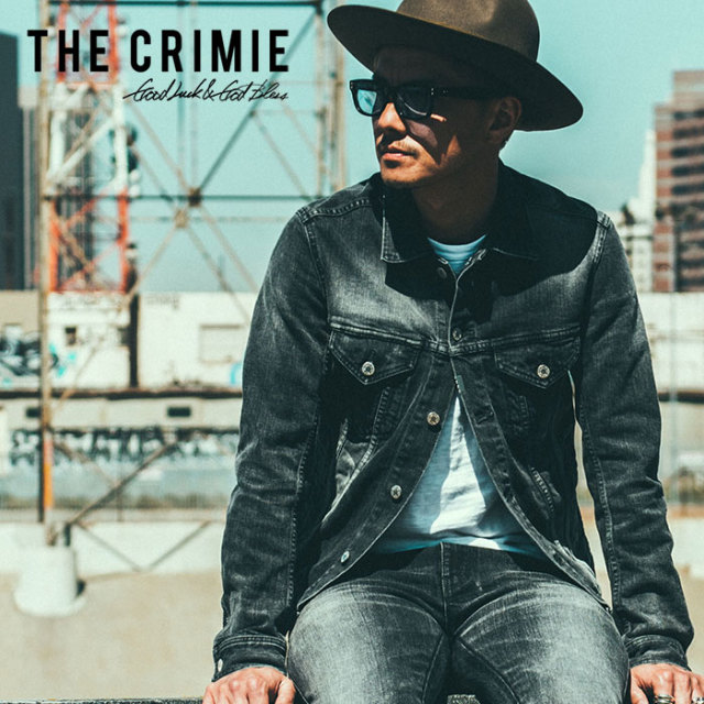 CRIMIE(クライミー) BORN FREE BLACK  STRETCH DENIM CALIFORNIA USED JACKET 【2018AUTUMN/WINTER先行予約】 【キャンセル不可】