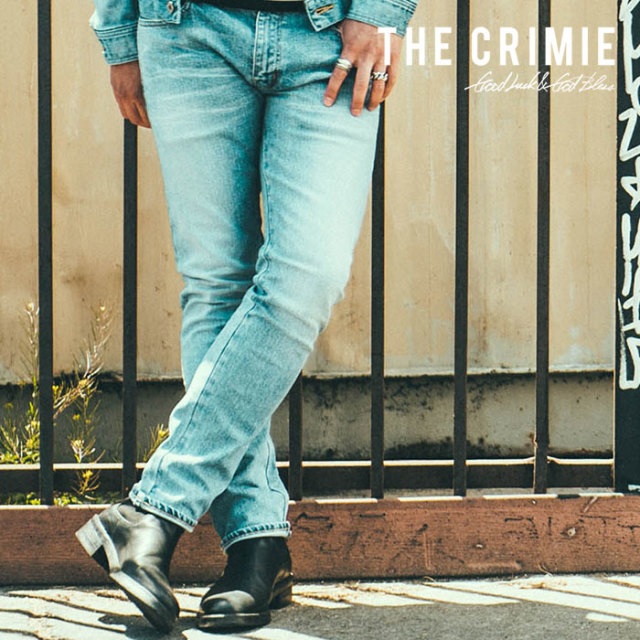 CRIMIE(クライミー) BORN FREE STRETCH SELVEDGE DENIM CALIFORNIA USED SLIM JEANS 【2018AUTUMN/WINTER先行予約】 【キャンセル