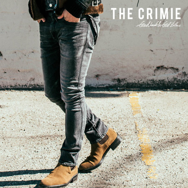 CRIMIE(クライミー) BORN FREE BLACK  STRETCH DENIM CALIFORNIA USED JEANS 【2018AUTUMN/WINTER先行予約】 【キャンセル不可】