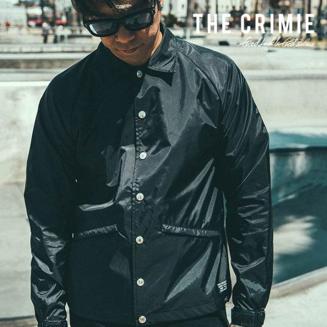 CRIMIE(クライミー) メンズ コーチ ジャケット ポリエステル100%【C1H5-JK00】[S M L XL][ブラック 黒] シンプル AUTUMN新作 秋冬 お